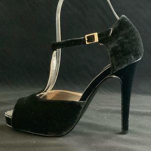 Black Velvet Stilettos